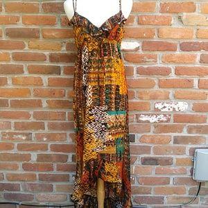 City Triangle Ruffled Maxi Dress